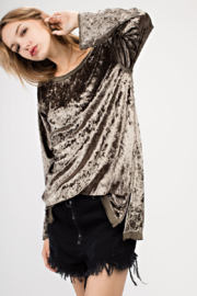 Mittoshop Crushed Velvet Tunic - Front cropped