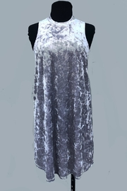 Minx Crushed Velvet Tunic - Front cropped