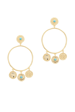 Gorjana Cruz Coin Drop Hoops - Product List Image