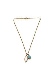 Lets Accessorize Crystal-And-Stone Charm Necklace - Product Mini Image