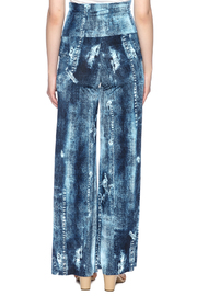 Crystal Art Designs Denim Palazzo Pants - Back cropped