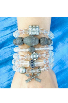 The Woods Fine Jewelry  Crystal Bead with Multi Charm Stretch Bracelet - Product List Image