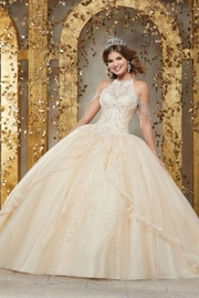 Morilee Crystal Beaded Embroidery on a Princess Tulle Ballgown - Product Mini Image