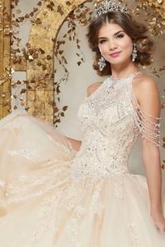 Morilee Crystal Beaded Embroidery on a Princess Tulle Ballgown - Alternate List Image