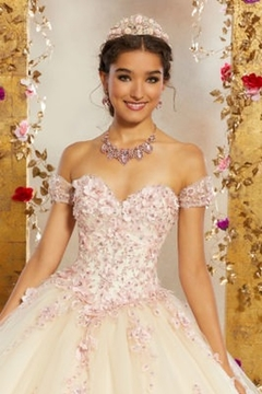 Morilee Crystal Beaded, Three-Dimensional Floral Appliqués and Embroidery on a Tulle Ballgown - Alternate List Image