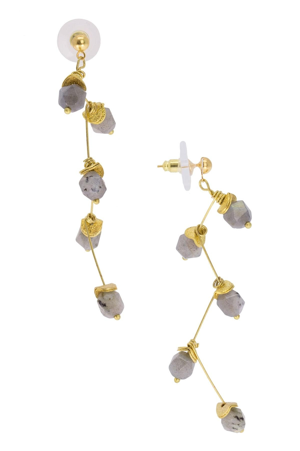 Saachi Crystal Branch Drop Earring - Front Full Image