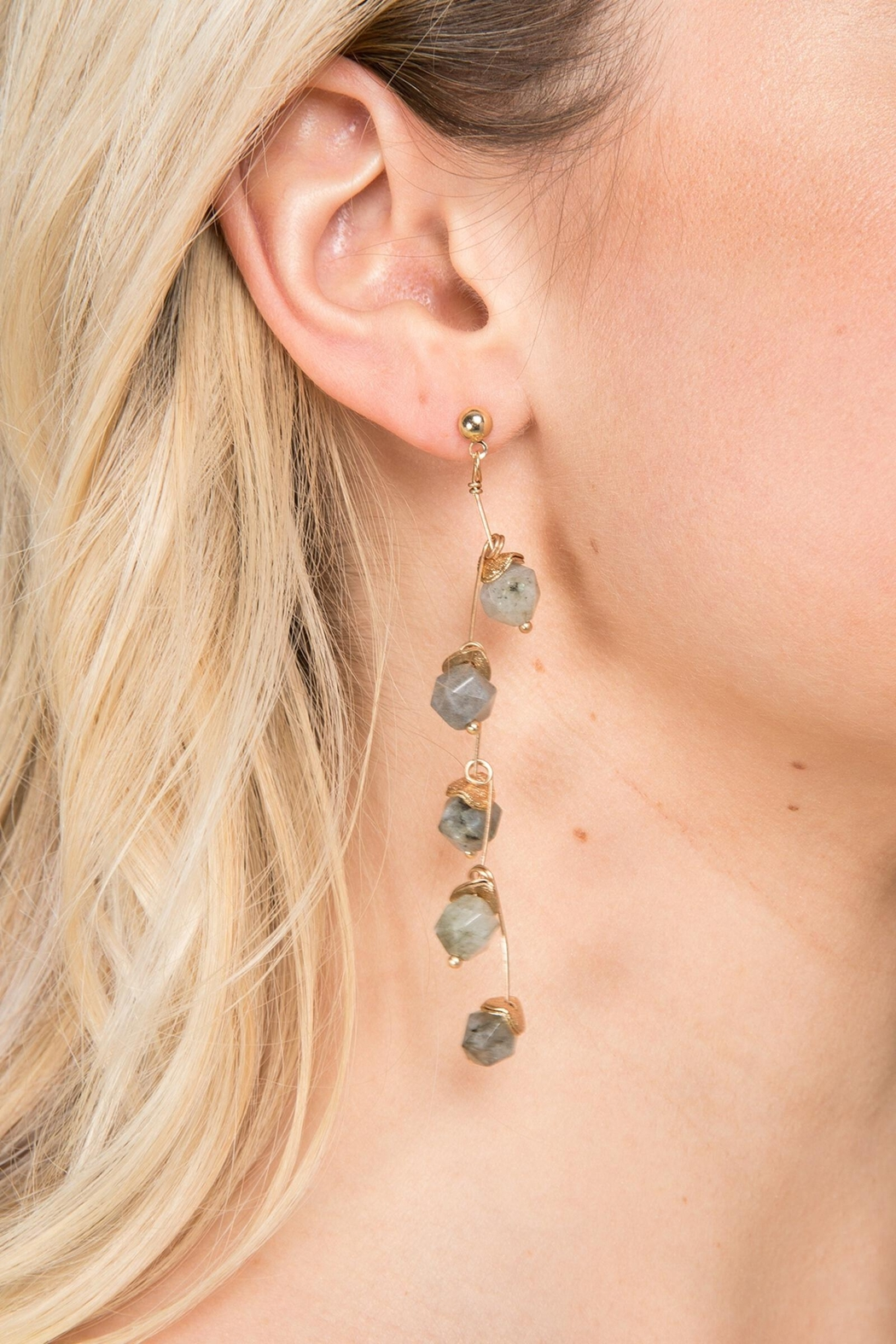Saachi Crystal Branch Drop Earring - Front Cropped Image