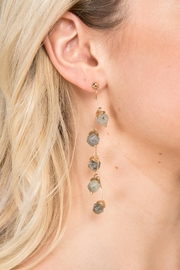 Saachi Crystal Branch Drop Earring - Front cropped