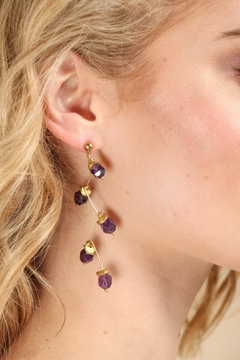 Saachi Crystal Branch Drop Earring - Product List Image