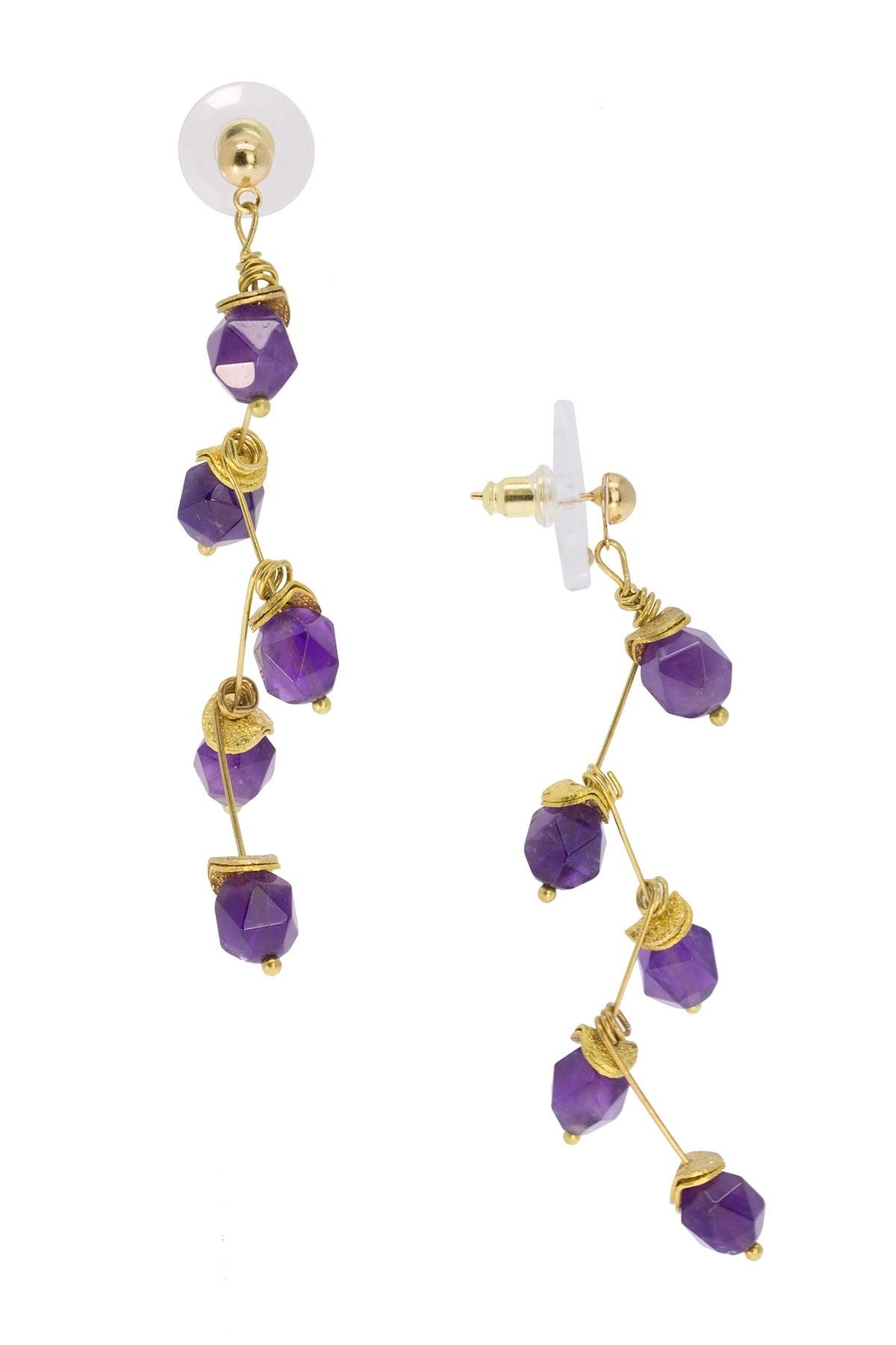 Saachi Crystal Branch Drop Earring - Side Cropped Image