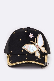 Nadya's Closet Crystal Butterfly Cap - Product Mini Image