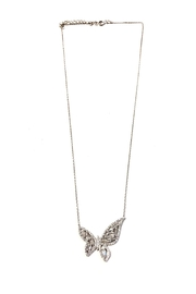 Lets Accessorize Crystal Butterfly Necklace - Product Mini Image