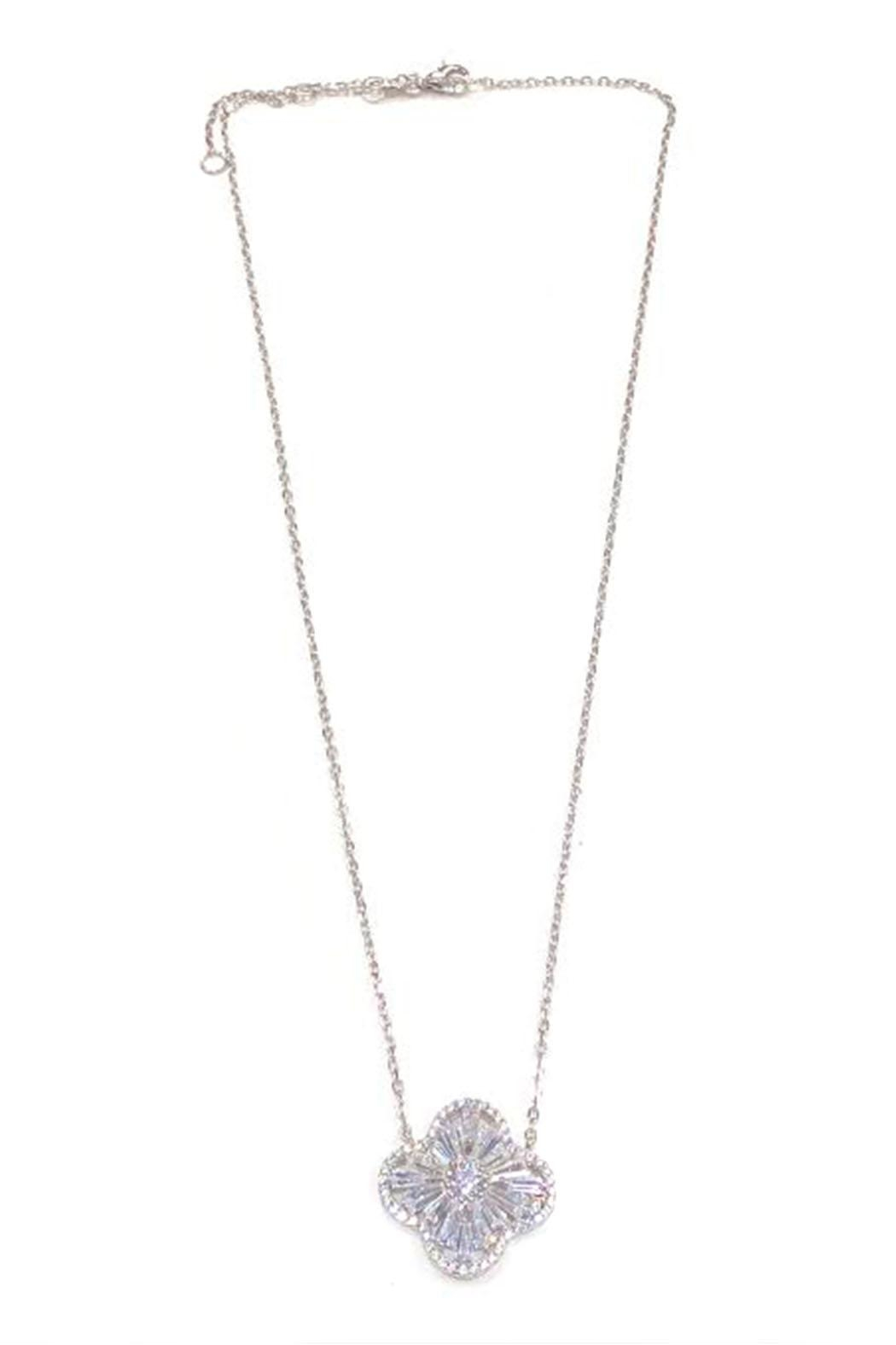 Lets Accessorize Crystal Clover Necklace - Main Image