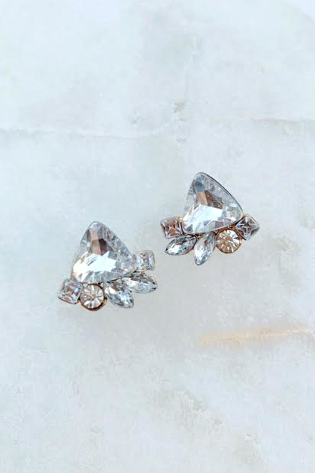 Wild Lilies Jewelry  Crystal Cluster Studs - Main Image