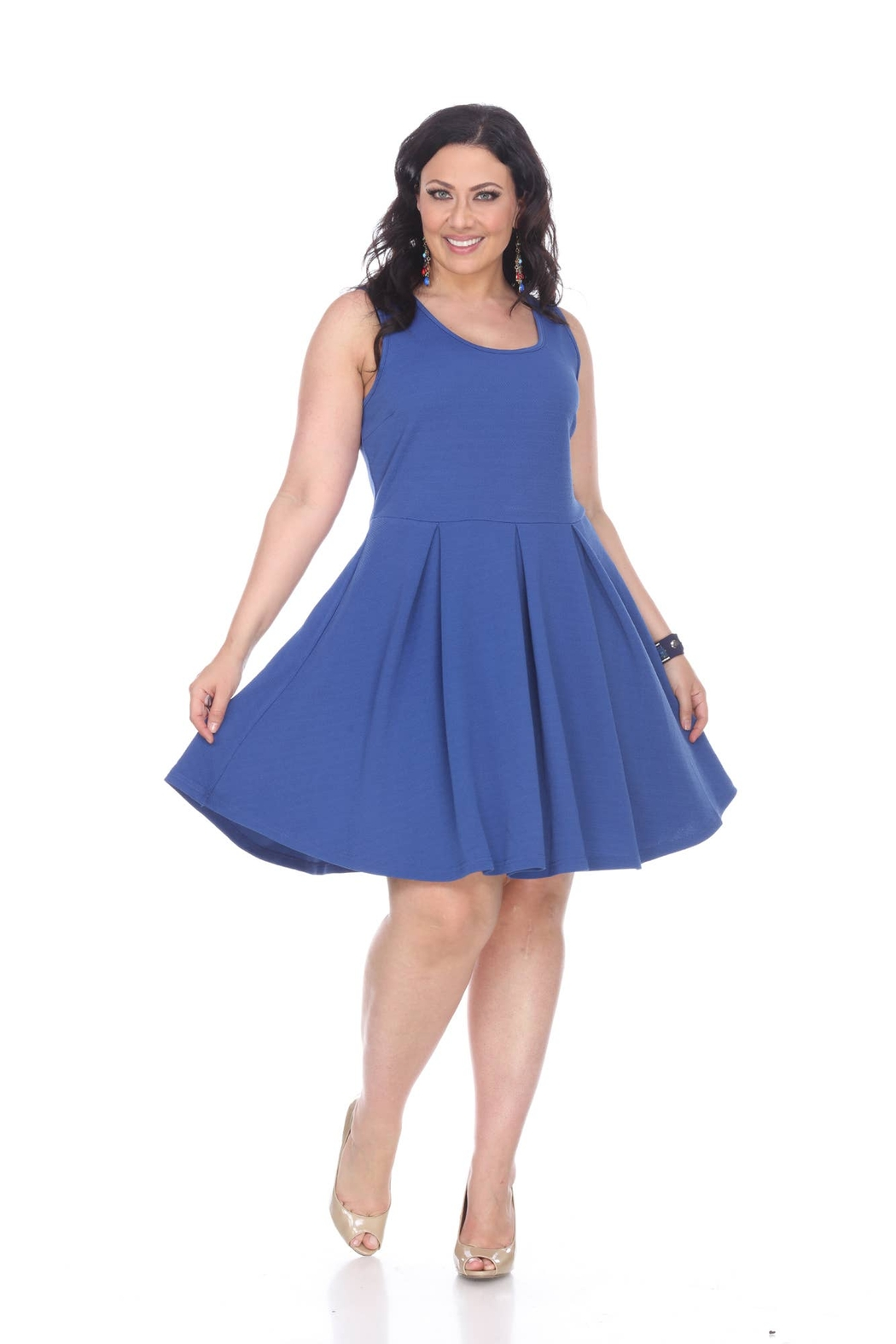 White Mark  - Crystal Dress - Plus Size - Front Cropped Image