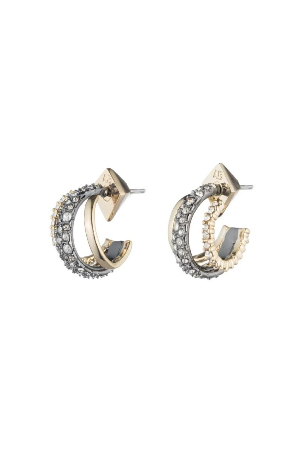Alexis Bittar Crystal Encrusted Earring - Front Full Image