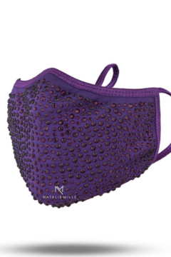 Natalie Mills Crystal Face Mask - Purple - Alternate List Image