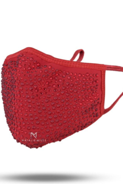 Natalie Mills Crystal Face Mask - Red - Alternate List Image