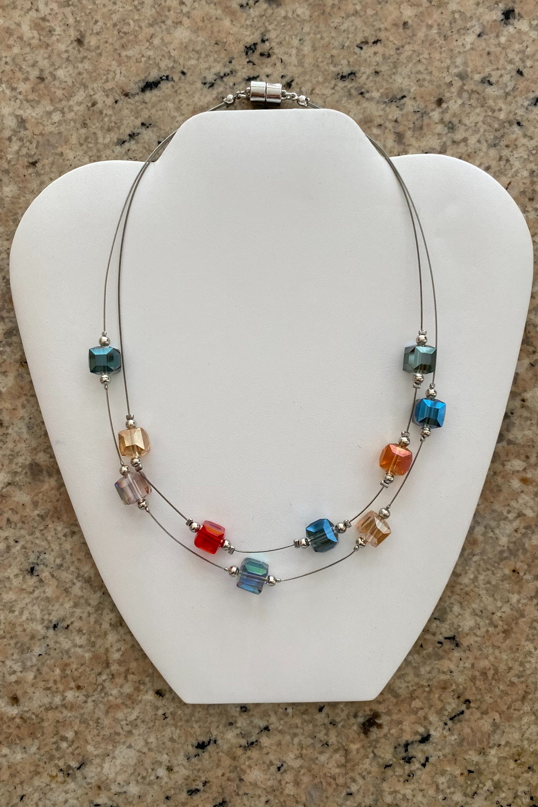 Ori Crystal Floating Wire Necklace - Main Image