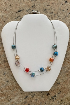 Ori Crystal Floating Wire Necklace - Alternate List Image