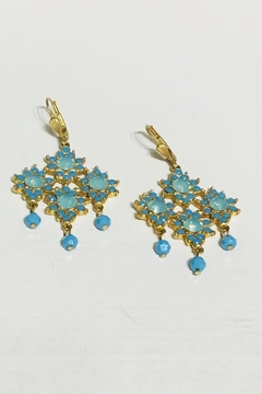Shoptiques Product: Crystal Flower Earrings