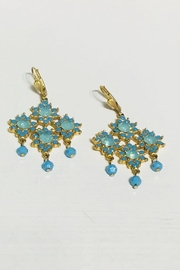 La Vie Parisienne Crystal Flower Earrings - Product Mini Image