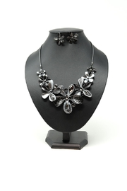 Nadya's Closet Crystal Flower Neck-Set - Front cropped