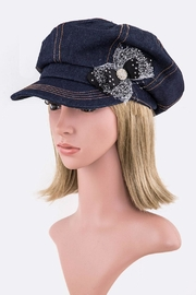Nadya's Closet Crystal Flower Newsboy-Hat - Product Mini Image