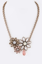 Nadya's Closet Crystal Flower Statement-Necklace - Product Mini Image