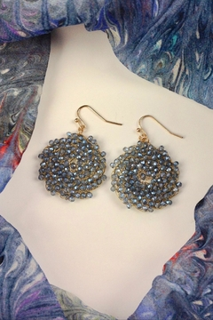 Shoptiques Product: Crystal Hand-Wired Earrings