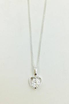 Pink Poodle Boutique Crystal Heart Necklace - Product List Image