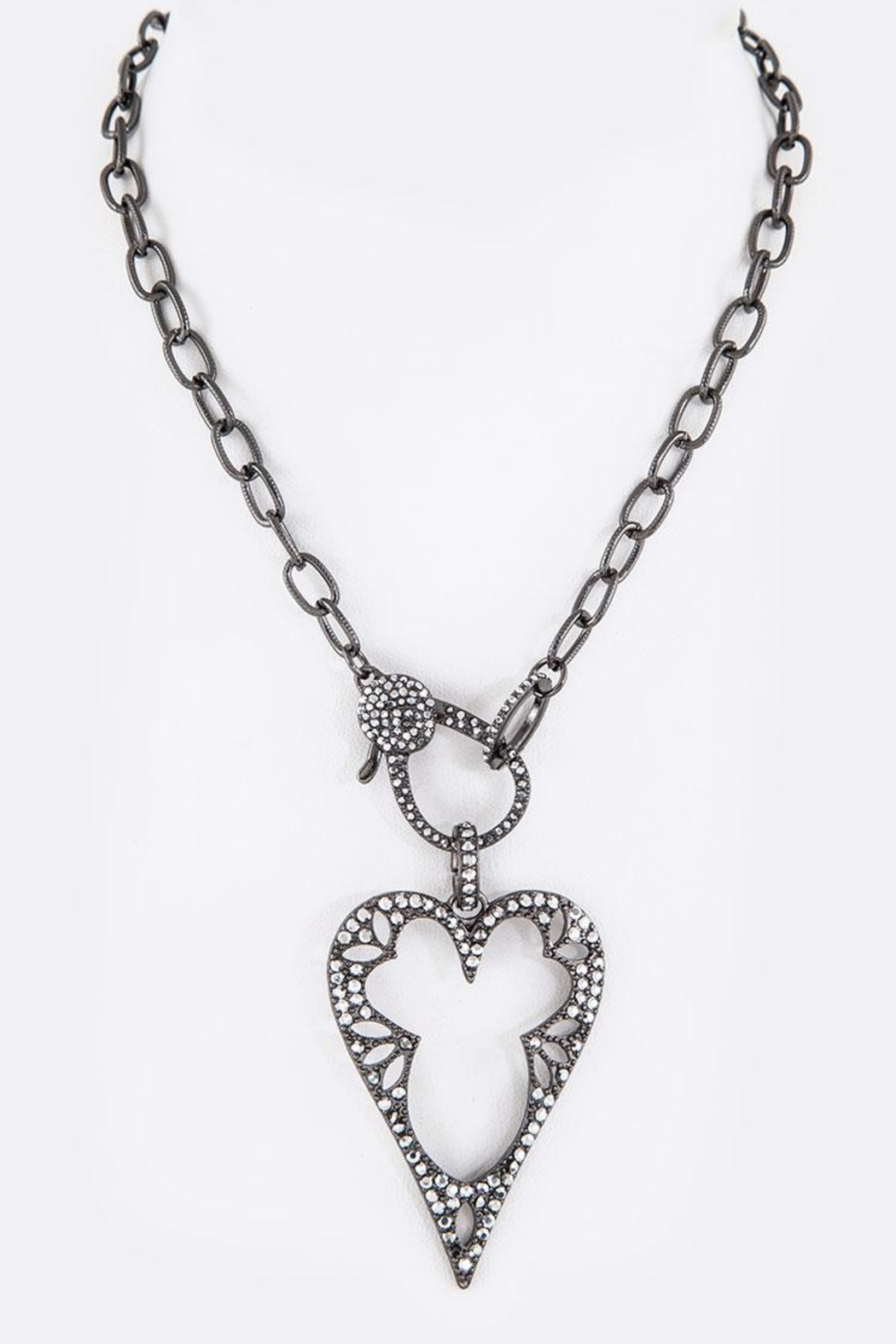 Nadya's Closet Crystal Heart Necklace - Front Cropped Image