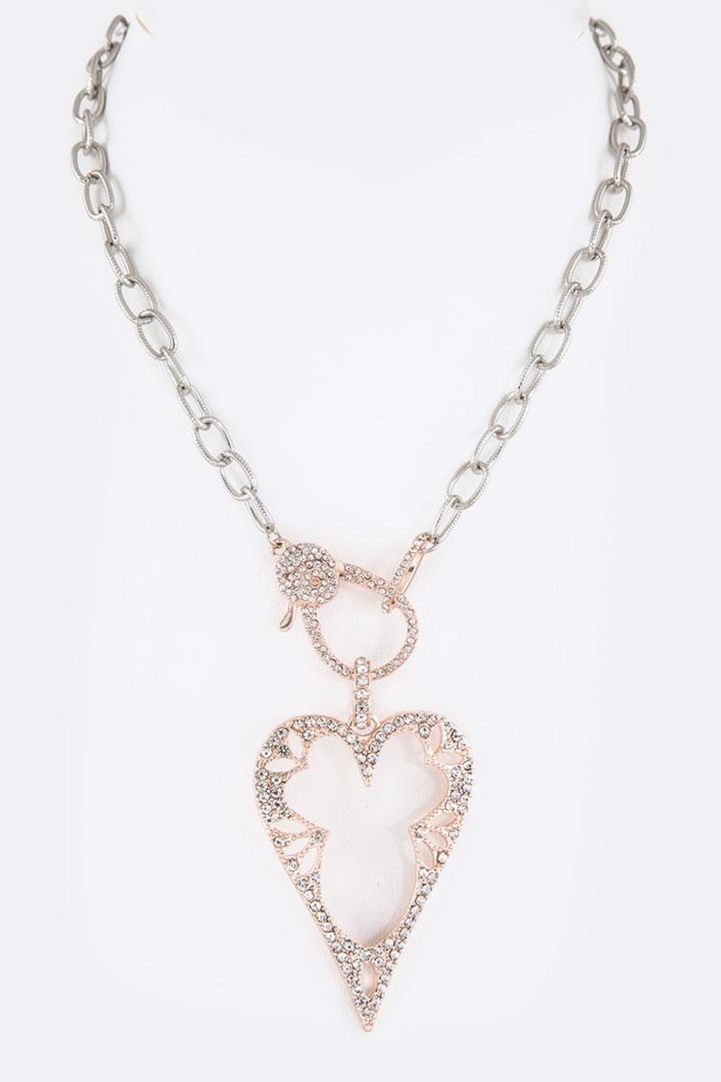 Nadya's Closet Crystal Heart Necklace - Main Image