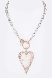 Nadya's Closet Crystal Heart Necklace - Front cropped