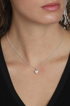Shoptiques Product: Crystal Heart Necklace