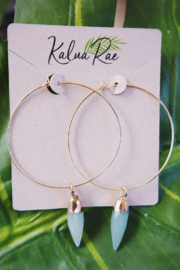 Kalua Rae Jewelry Crystal Hoops - Product Mini Image