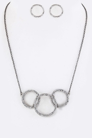 Nadya's Closet Crystal Hoops Necklace-Set - Product Mini Image