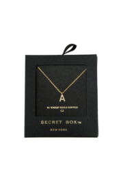 Secret Box Crystal Initial Necklace - Product Mini Image