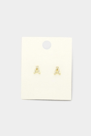 Wild Lilies Jewelry  Crystal Initial Studs - Product Mini Image