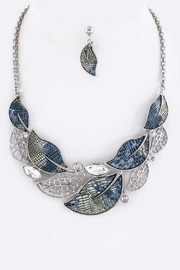Nadya's Closet Crystal Leaf Necklace-Set - Product Mini Image