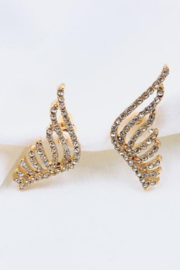 Treasure Jewels Crystal Mini Wings Earrings - Product Mini Image