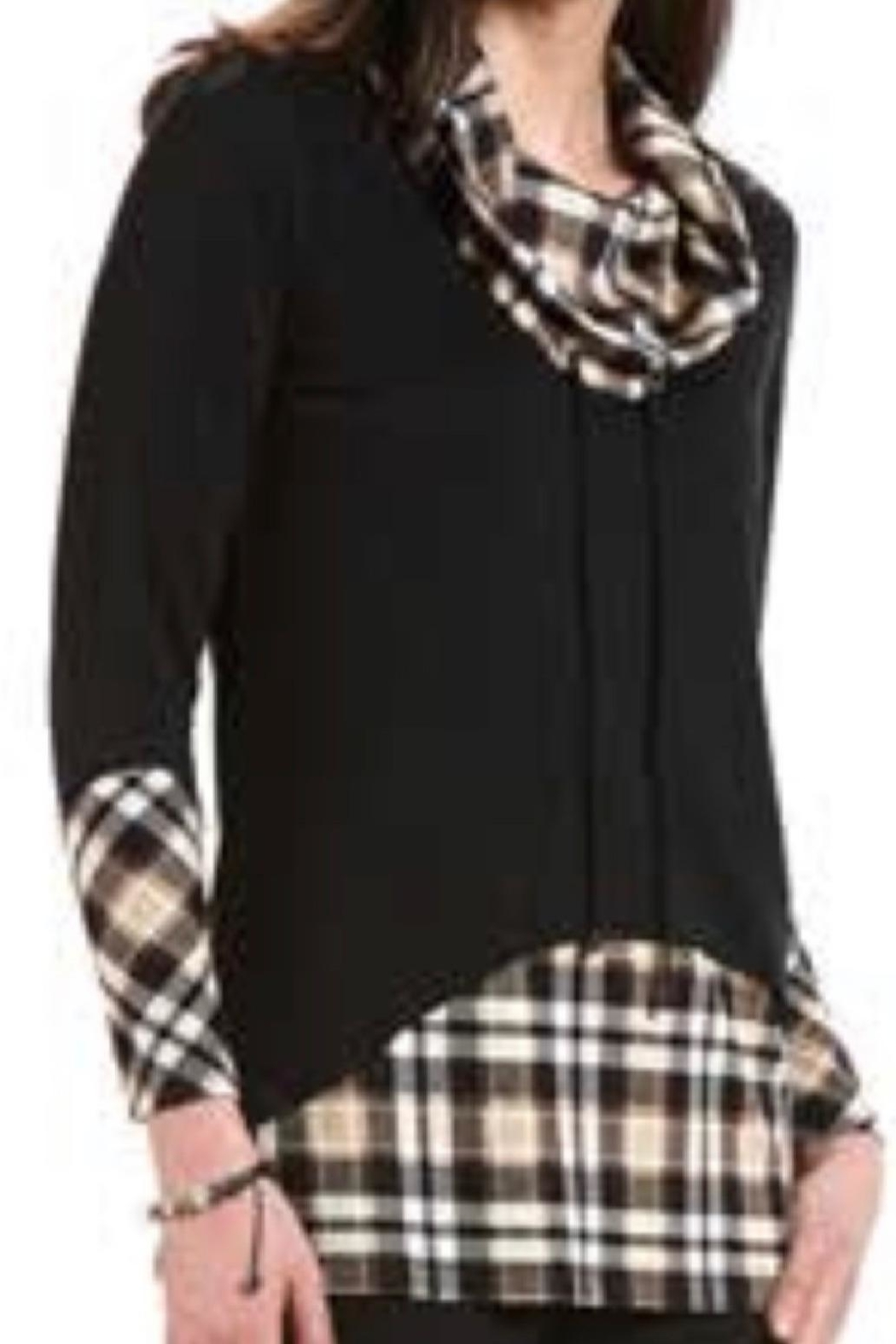 Crystal Plaid Accent Tunic - Main Image