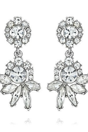 C+I Crystal Post Drop Earrings - Product Mini Image