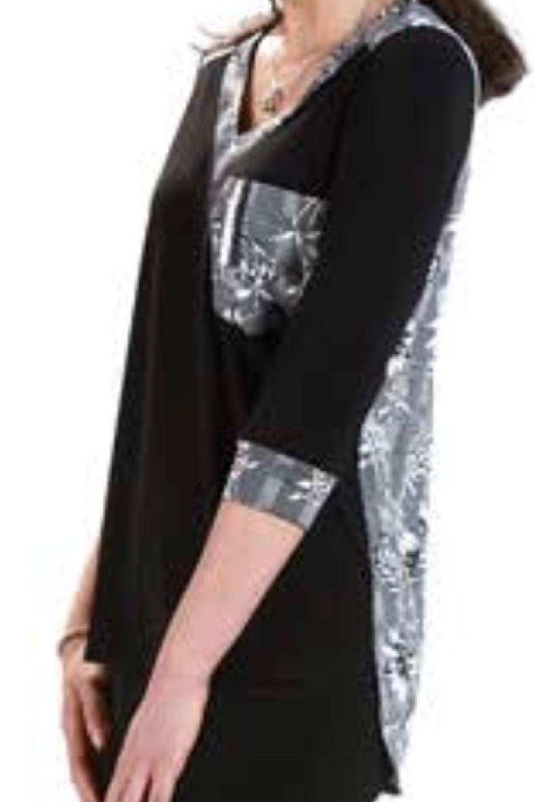 Crystal Print Pocket Tunic - Front Cropped Image
