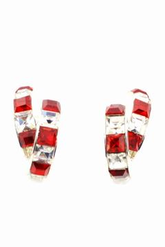 Crystal Red & White Earrings - Product List Image