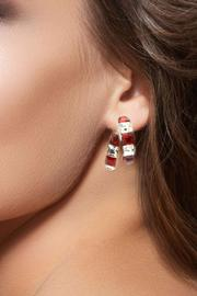 Crystal Red & White Earrings - Side cropped