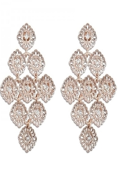 Periwinkle by Barlow CRYSTAL & ROSE GOLD DROPS - Alternate List Image