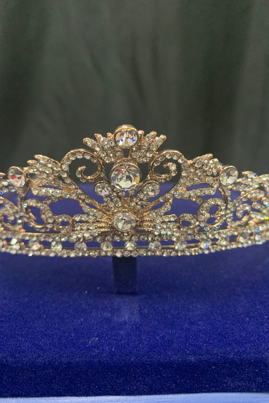 Lucky Collections Crystal Rose Gold Tiara - Front Full Image