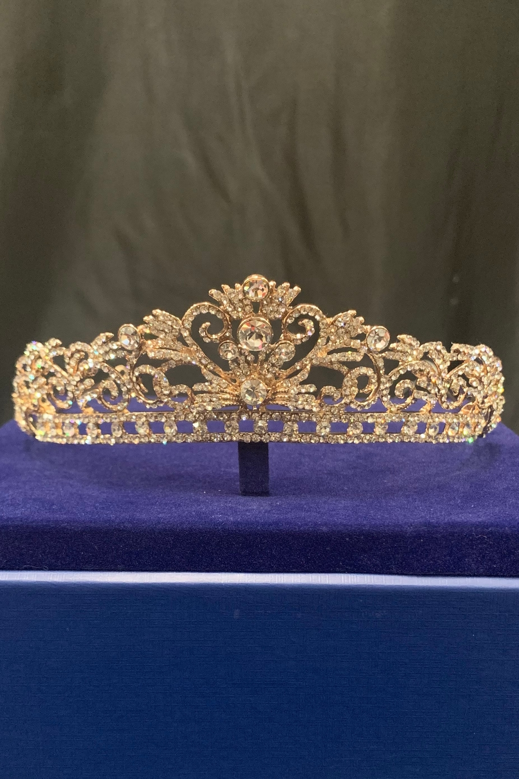 Lucky Collections Crystal Rose Gold Tiara - Main Image