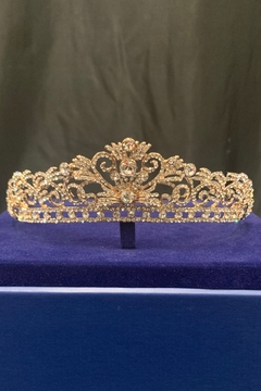 Lucky Collections Crystal Rose Gold Tiara - Product List Image
